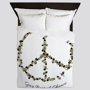 Give Bees A Chance Queen Duvet