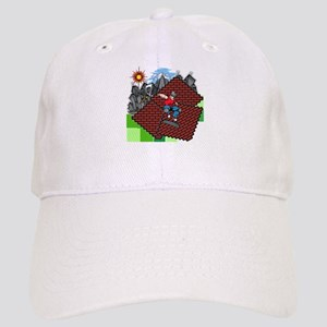 blockcraft city skater Baseball Cap