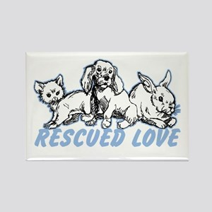 Rescued Love Rectangle Magnet