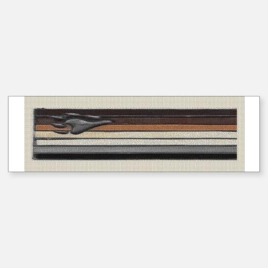 BEAR PRIDE FLAG /SILVER PAW Bumper Bumper Bumper Sticker