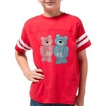 bear_pinkblue Youth Football Shirt