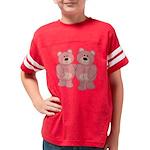 bear_pinkpink Youth Football Shirt