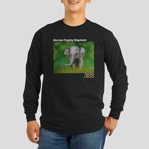 Borneo Pygmy Elephant Long Sleeve Dark T-Shirt