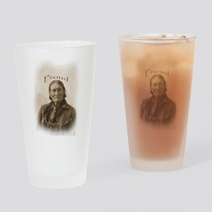 Geronimo, Proud American Drinking Glass