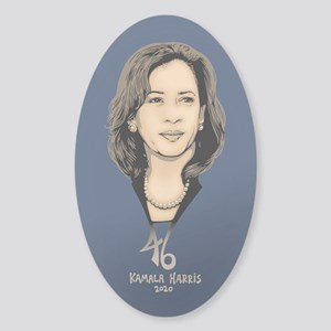 Kamala Harris 46 Sticker (Oval)