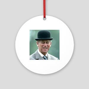 HRH Prince Philip Windsor Ornament (Round)