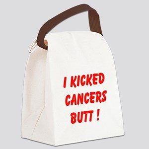 I Kicked Cancers Butt Canvas Lunch Bag