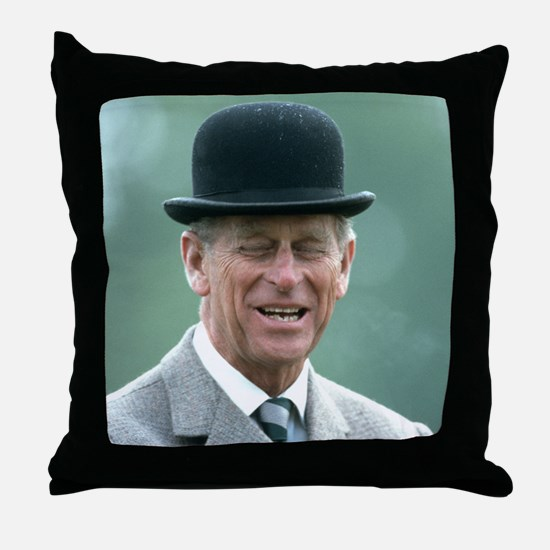 HRH Prince Philip Windsor Throw Pillow