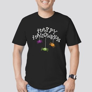 Happy Halloween Bones Men's Fitted T-Shirt (dark)