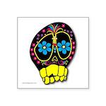 "Dia De Los Muertos Square Sticker 3"" x 3&quot"