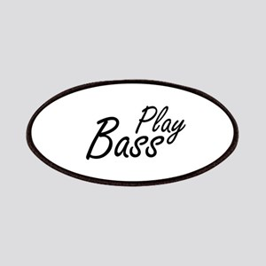 play bass black text guitar Patches