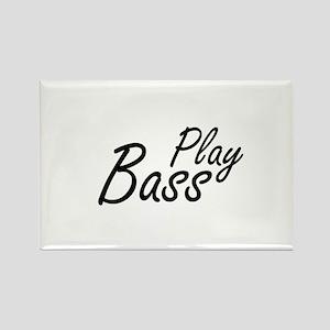 play bass black text guitar Magnets