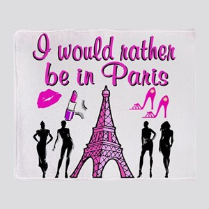 BONJOUR PARIS Throw Blanket