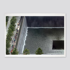 September 11 Memorial NYC 5'x7'Area Rug