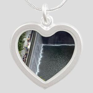 September 11 Memorial NYC Silver Heart Necklace