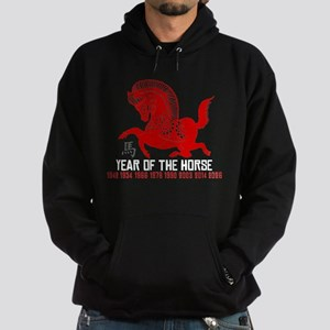 Traditional Chinese Zodiac Paper Cut Horse Hoodie