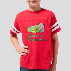 Waiting for Christmas Lt Skin Youth Football Shirt