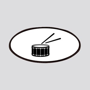 black snare graphic with sticks Patches