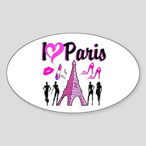 BONJOUR PARIS Sticker (Oval)