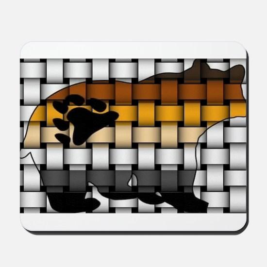 BEAR PRIDE BEAR-WOVEN Mousepad