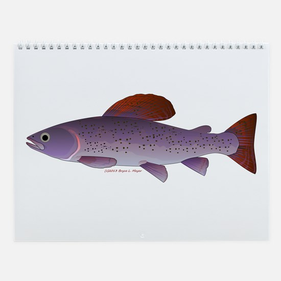 trout and salmon Wall Calendar