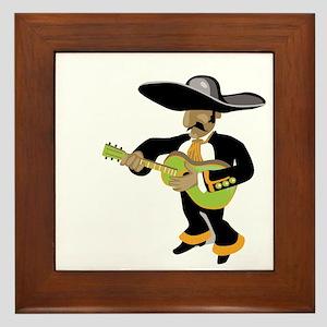 mexican uke player green Framed Tile