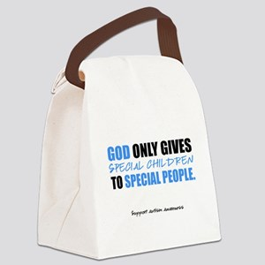 God Only Gives (Autism Awareness) Canvas Lunch Bag