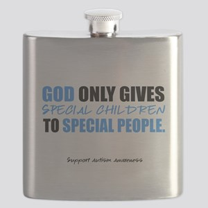 God Only Gives (Autism Awareness) Flask