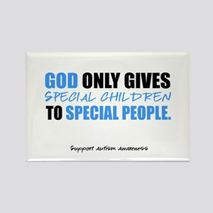 God Only Gives (Autism Awareness) Rectangle Magnet