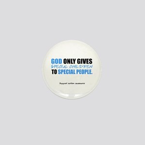 God Only Gives (Autism Awareness) Mini Button