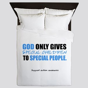 God Only Gives (Autism Awareness) Queen Duvet