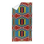Native American Indian Beadwork Print Beach Towel