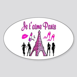 HELLO PARIS Sticker (Oval)