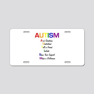 Autism Ask Questions Aluminum License Plate