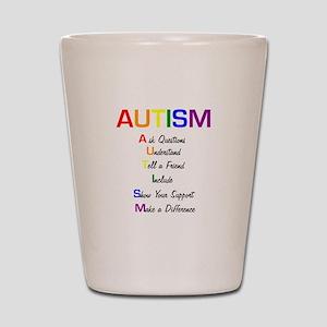 Autism Ask Questions Shot Glass