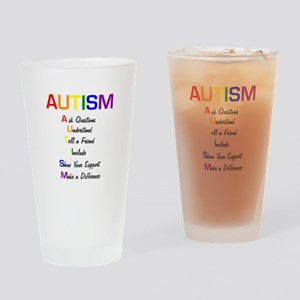 Autism Ask Questions Drinking Glass