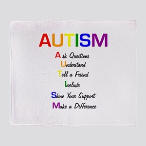 Autism Ask Questions Throw Blanket