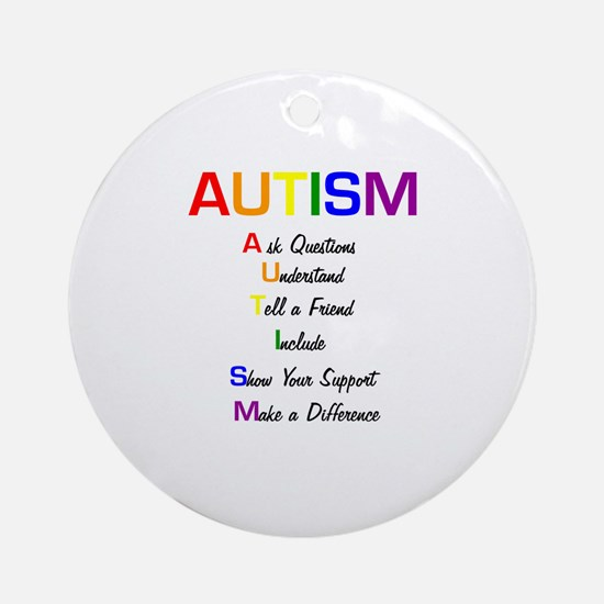 Autism Ask Questions Ornament (Round)