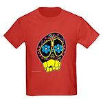 Dia De Los Muertos Kids Dark T-Shirt