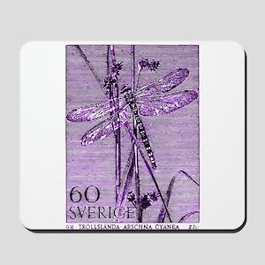 Vintage 1979 Sweden Dragonfly Postage Stamp Mousep