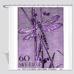 Vintage 1979 Sweden Dragonfly Postage Stamp Shower
