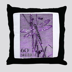 Vintage 1979 Sweden Dragonfly Postage Stamp Throw