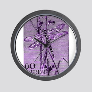 Vintage 1979 Sweden Dragonfly Postage Stamp Wall C