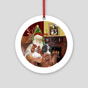 Santa's three Cavaliers Ornament (Round)