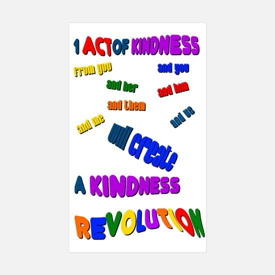 1 Act of Kindness Rectangle Sticker 10 pk)