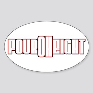 Four Oh Eight Oval Sticker