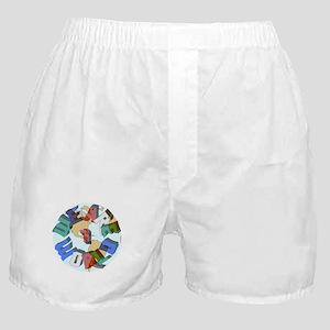 We Are 1 World Boxer Shorts