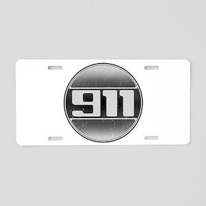 911 Cars Aluminum License Plate