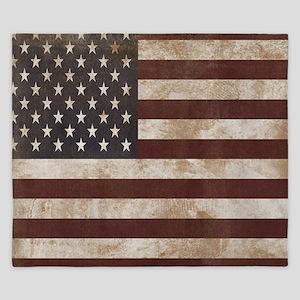 Vintage American Flag King Duvet 1 King Duvet