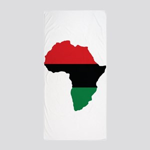 Red, Black and Green Africa Flag Beach Towel